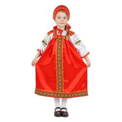 """Сарафан детский """"Василиса"""", цвет - красный"""