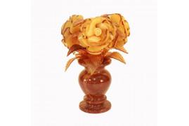 """Цветы из янтаря """"Три розы"""""""