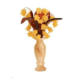 "Цветы из янтаря ""Букет ландышей"""