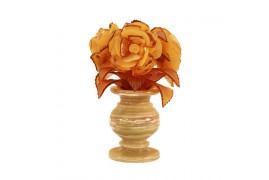 """Цветы из янтаря """"Букет роз"""""""