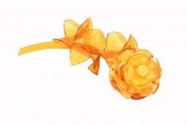 """Цветы из янтаря """"Роза малая"""""""