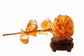 """Цветы из янтаря """"Роза"""""""
