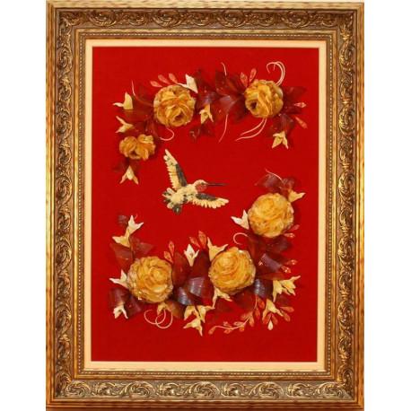 "Картина из янтаря ""Колибри"""