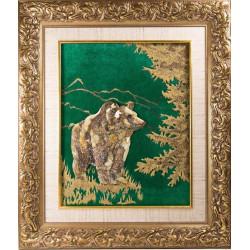 "Картина из янтаря ""Медведь"""