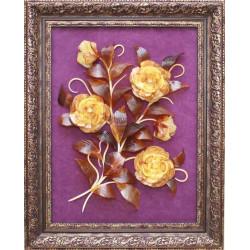 "Картина из янтаря ""Цветочная композиция 3"""