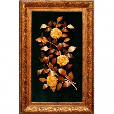 "Картина из янтаря ""Цветочная композиция 4"""