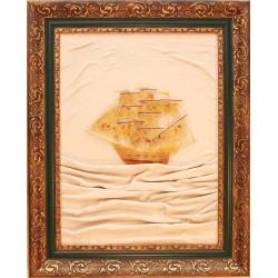 "Картина из янтаря ""Парусник"""