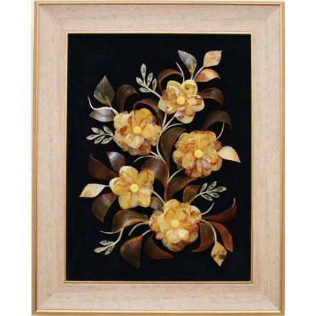 "Картина из янтаря ""Цветочная композиция 5"""