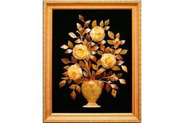 "Картина из янтаря ""Цветы в вазе 2"""