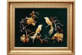 """Картина из янтаря """"Две колибри"""""""
