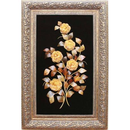 "Картина из янтаря ""Цветочная композиция"""