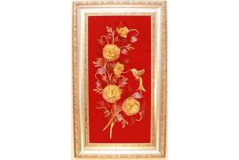 """Картина из янтаря """"Цветы 4"""""""
