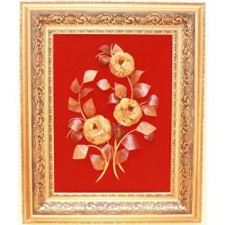 """Картина из янтаря """"Цветы 5"""""""