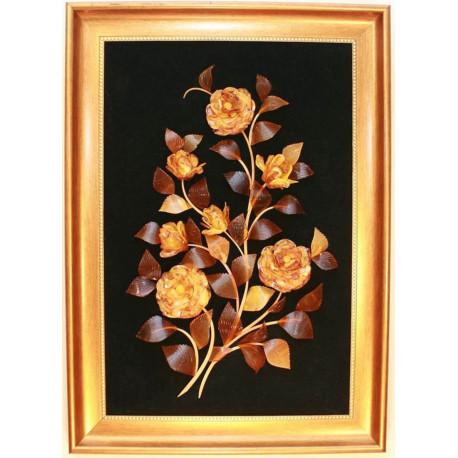 """Картина из янтаря """"Цветы 6"""""""