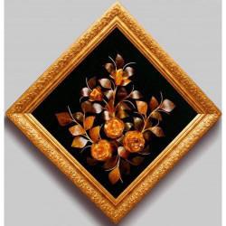 """Картина из янтаря """"Цветы 7"""""""