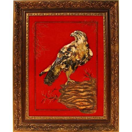 "Картина из янтаря ""Ястреб"""