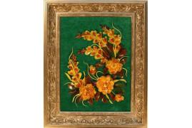 """Картина из янтаря """"Цветы 8"""""""