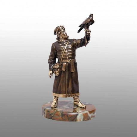 """Бронзовая статуэтка """"Сокольничий"""""""