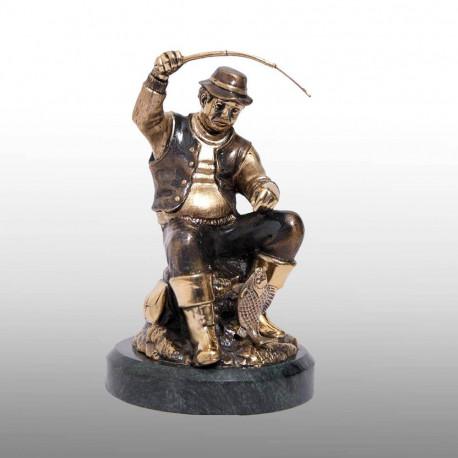 """Бронзовая статуэтка """"Рыбалка"""""""