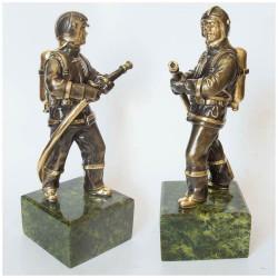 """Бронзовая статуэтка """"Пожарный"""""""