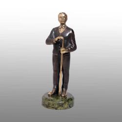 "Бронзовая статуэтка ""Бильярдист"""