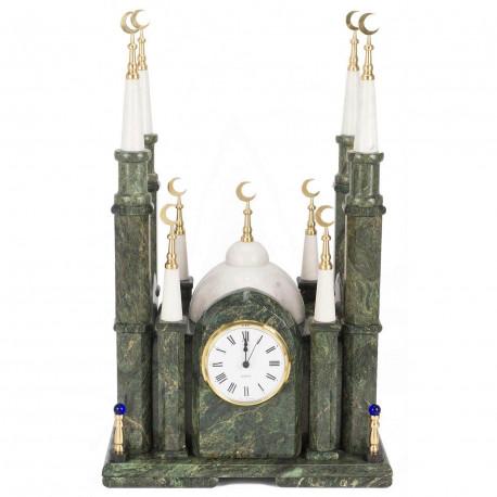 """Часы """"Мечеть большая"""" змеевик"""