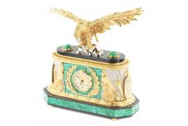 """Часы """"Орел"""" малахит позолота"""