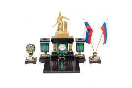 """Письменный набор """"Русь"""" малахит"""