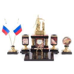 """Письменный набор """"Русь"""" Яшма"""