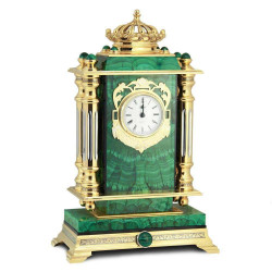 """Каминные часы """"Царские"""" малахит"""