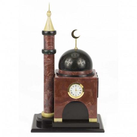 """Часы """"Мечеть малая"""" лемезит, долерит"""