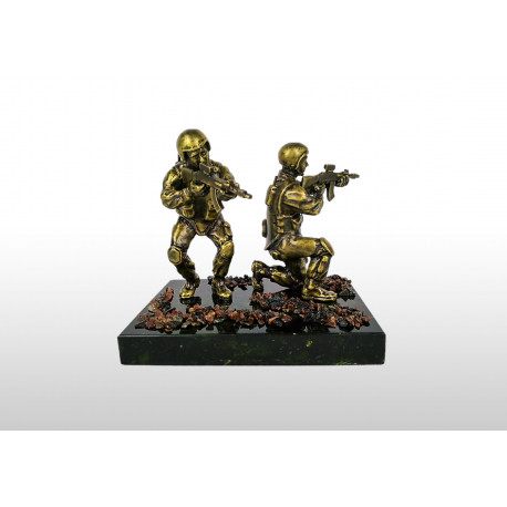 """Бронзовая статуэтка """"Бойцы спецназа"""""""