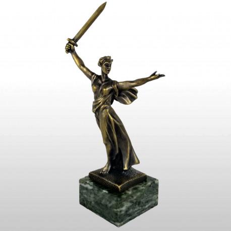"""Бронзовая статуэтка """"Родина - Мать"""""""