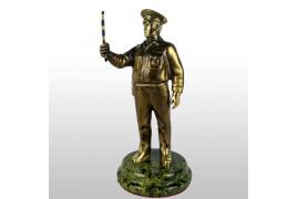 """Бронзовая статуэтка """"Инспектор ДПС"""""""