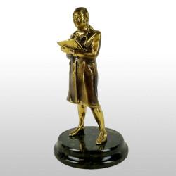 """Бронзовая статуэтка """"Терапевт женщина"""""""