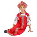 """Русский народный костюм женский """"Маруся"""", цвет - красный, материал - х/б"""
