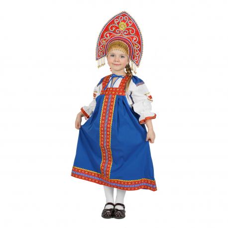 "Сарафан детский ""Дуняша"", цвет - ""Василек"""