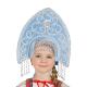 """Кокошник """"Ярославна"""", цвет - голубой"""