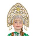 """Кокошник """"Ярославна"""", цвет - белый"""