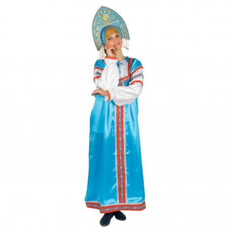 "Сарафан ""Василиса"", цвет - бирюзовый"
