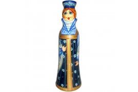 Бар для бутылки Девушка в сарафане 0,5 л. (высота 32 см., D8 см.)