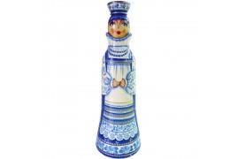Бар для бутылки Гжель 0,5 л. (высота 32 см., D8 см.)