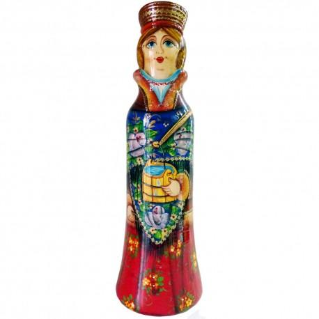 Бар для бутылки Девушка с ведрами 0,5 л. (высота 32 см., D8 см.)