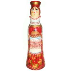 Бар для бутылки Девушка с хлебом 0,5 л. (высота 32 см., D8 см.)