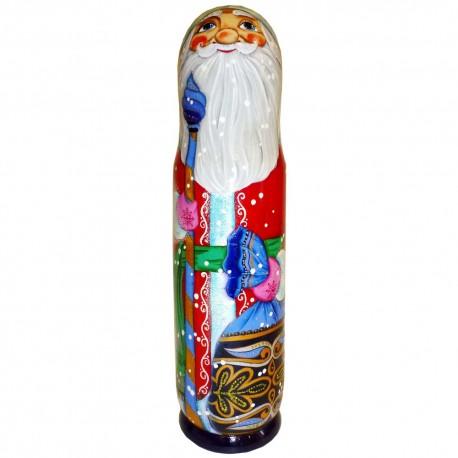 Бар для бутылки Дед Мороз с мешком 0,5 л. (высота 32 см., D8 см.)