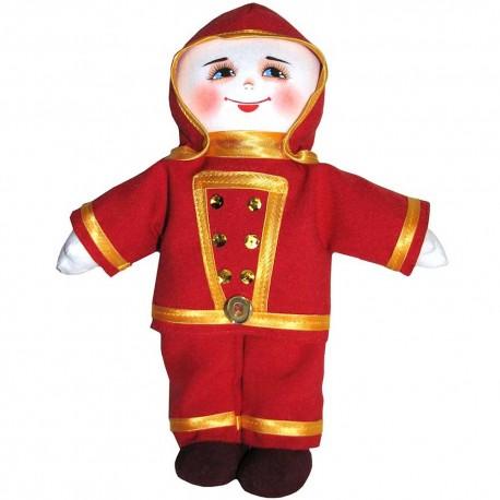 Кукла славянская Пожарный (высота 28 см.)