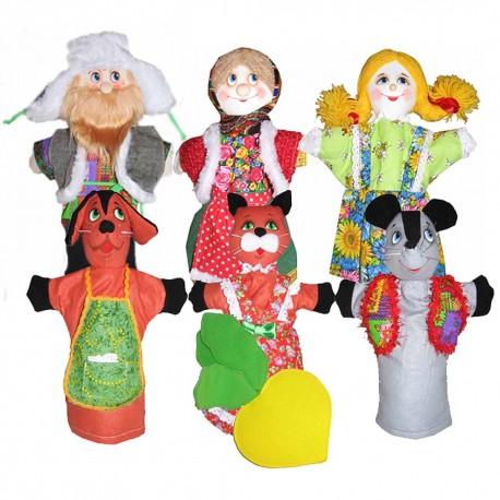 Кукольный театр Репка (сказка 7 персонажей)