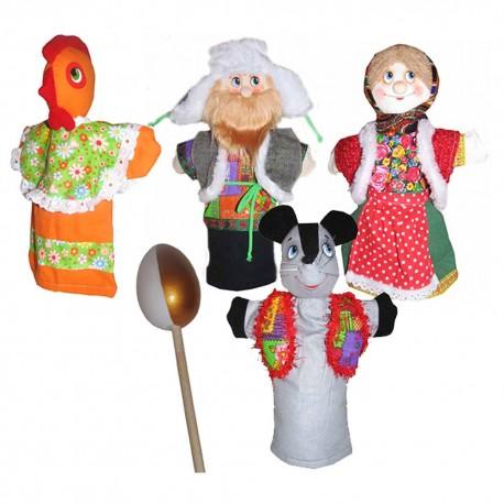 Кукольный театр Курочка ряба (сказка 4 персонажа)