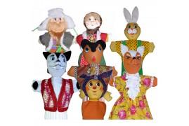 Кукольный театр Колобок (сказка 7 персонажей)