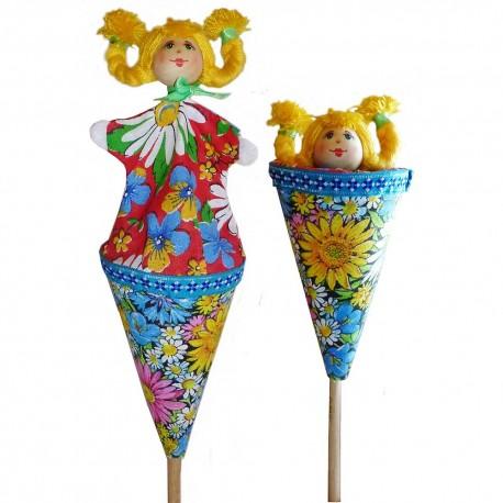 Кукольный театр Девочка (высота 23 см.)